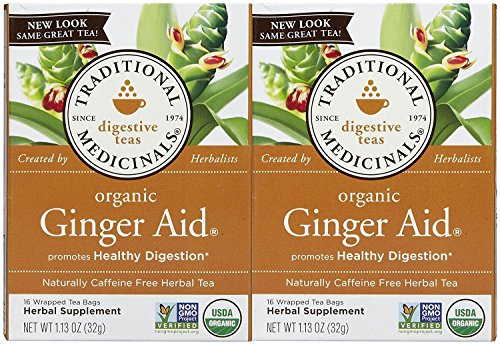 Traditional Medicinals Organic Ginger Aid Herbal Wrapped Tea Bags - 16 ct - 2 Pack