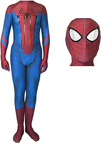 RNGNBKLS Costume Spiderhomme pour Adulte HalFaibleeen Cosplay DéguiseHommest Costume voiturenaval Film Costume pour Enfant Spandex Lycra Onesies,Style-2-L
