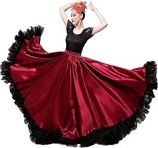 Backgarden Gorgeous Belly Dance 20 Yard Performnace Skirt Tribal Flamenco Long Circles Dress