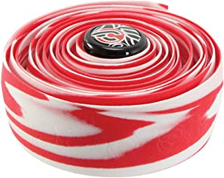 Cinelli Cork handlebar tape zebra - white/red NLA