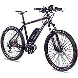 CHRISSON 27,5 Zoll E-Bike Mountainbike Bosch - E-Mounter 2.0 schwarz 44cm - Elektrofahrrad, Pedelec...