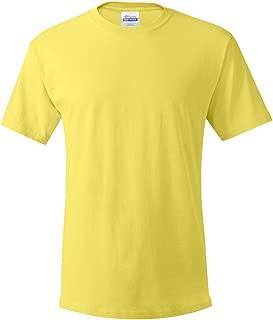 Men's TAGLESS ComfortSoft Crewneck T-Shirt, Yellow, Small