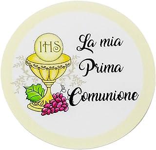 20 pezzi Adesivi tondi Prima Comunione, 40 millimetri, etichette cresima, thank you stickers, grazie, festa, tondo, rotond...