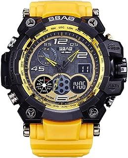 Cathalem Men's Racer Military Pilot Aviator Army Sports Digital Wrist Watch