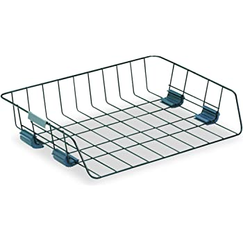 Fellowes Side Load Double Tray with 5 Section Sorter Letter Size 72371 Wire Black