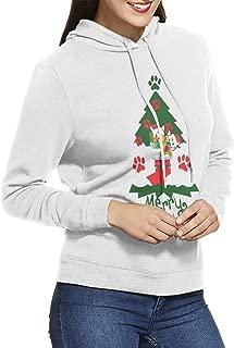 Meowy Christmas Cat Green Tree Ugly Christmas Women Hooded Sweatshirt Sweater Hoodie
