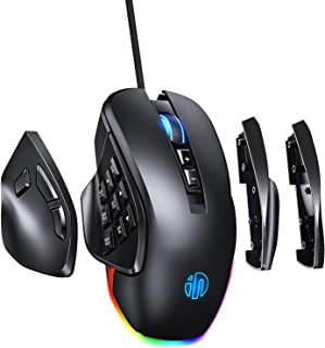 RBG Wired Gaming Mouse INPHIC PG9, 8/14 Programmable Button With 4 Replaceable Side Plates,...
