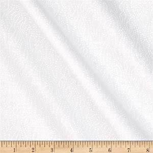 Tone on Tone Dotted Lines White/White, Quilting Fabric by the Yard