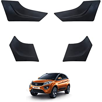 Hi Art Car Custom Fit Bumper Scratch Protectors Compatible with Tata Nexon, Set of 4