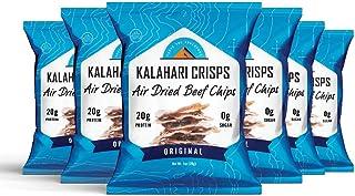 Kalahari Biltong Crisps | Original Flavor | Air Dried Beef Chips | 20g of Protein | Keto-Friendly, Soy-Free, Gluten-Free a...