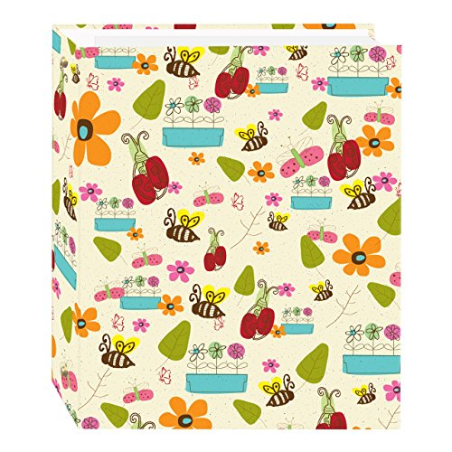 Magnetic Self-Stick 3-Ring Photo Album 100 Pages (50 Sheets), Doodles Design