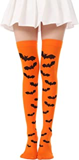 Women Halloween Thigh High Long Stockings Over Knee Costume St. Patrick's Day Tights
