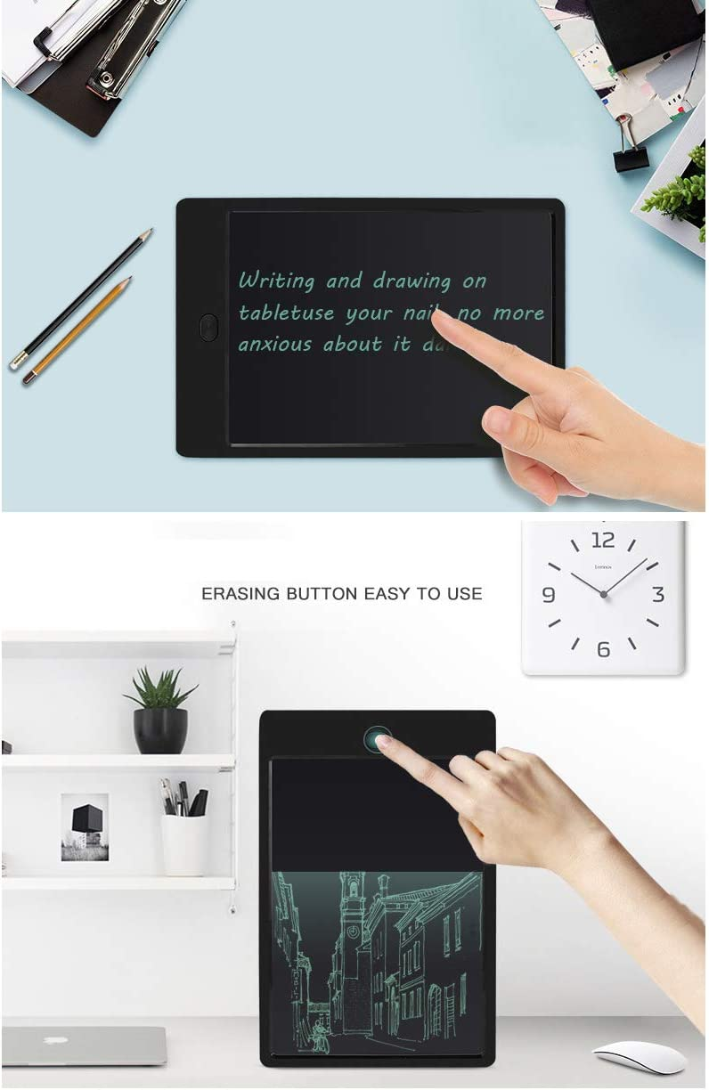Designers Families GXLO 8.5-inch LCD Writing Tablet Electronic Writing Board Digital Drawing Board Graphic Drawing Tablet for Students Restaurants Cafes