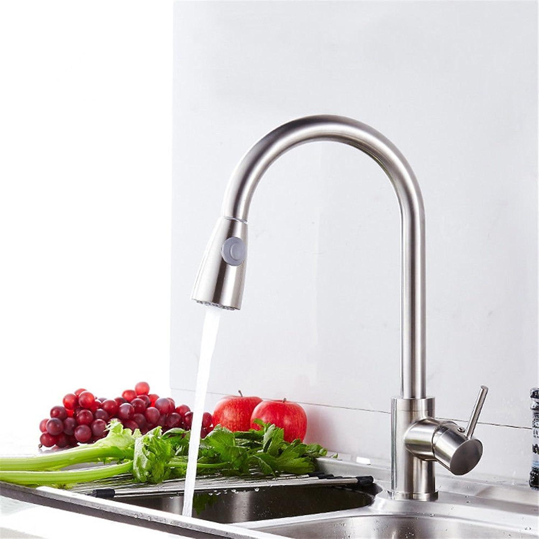 Küche mit herausziehbarer Dual-Spülbrause,Kaltes Heies Wassert Sanitaire 360 ° tournant en acier inoxydable brossé fin pour tirer le robinet de l'eau chaude et froide de l'évier de cuisine
