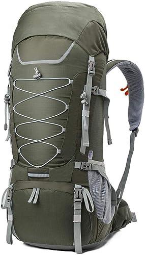 75L Grande capacité Sac à Dos randonnée Camping Voyage en Plein air Sac à Dos équitation Sac à Dos Polyester Sac à Dos