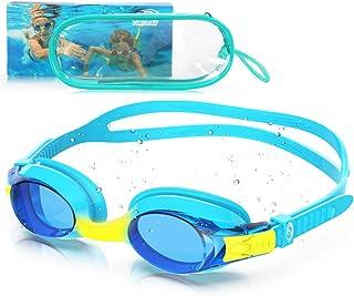 Kids Swimming Goggles, Child (Age 3-14) No Leak Swim Goggles for Boys Girls