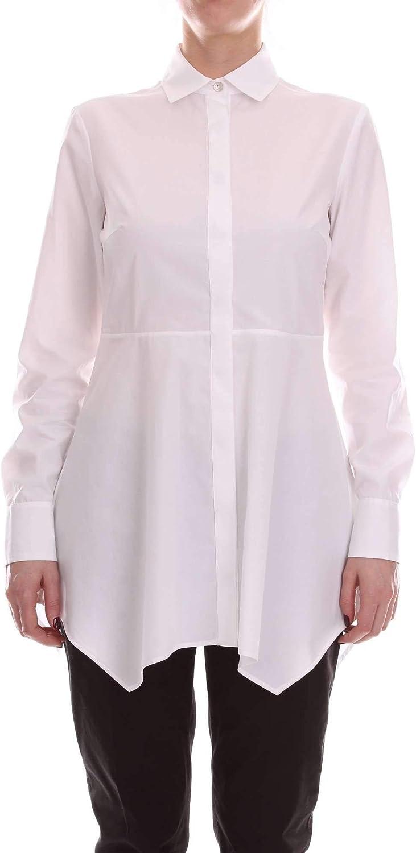 Barba Women's PE19431600WHITE White Cotton Shirt