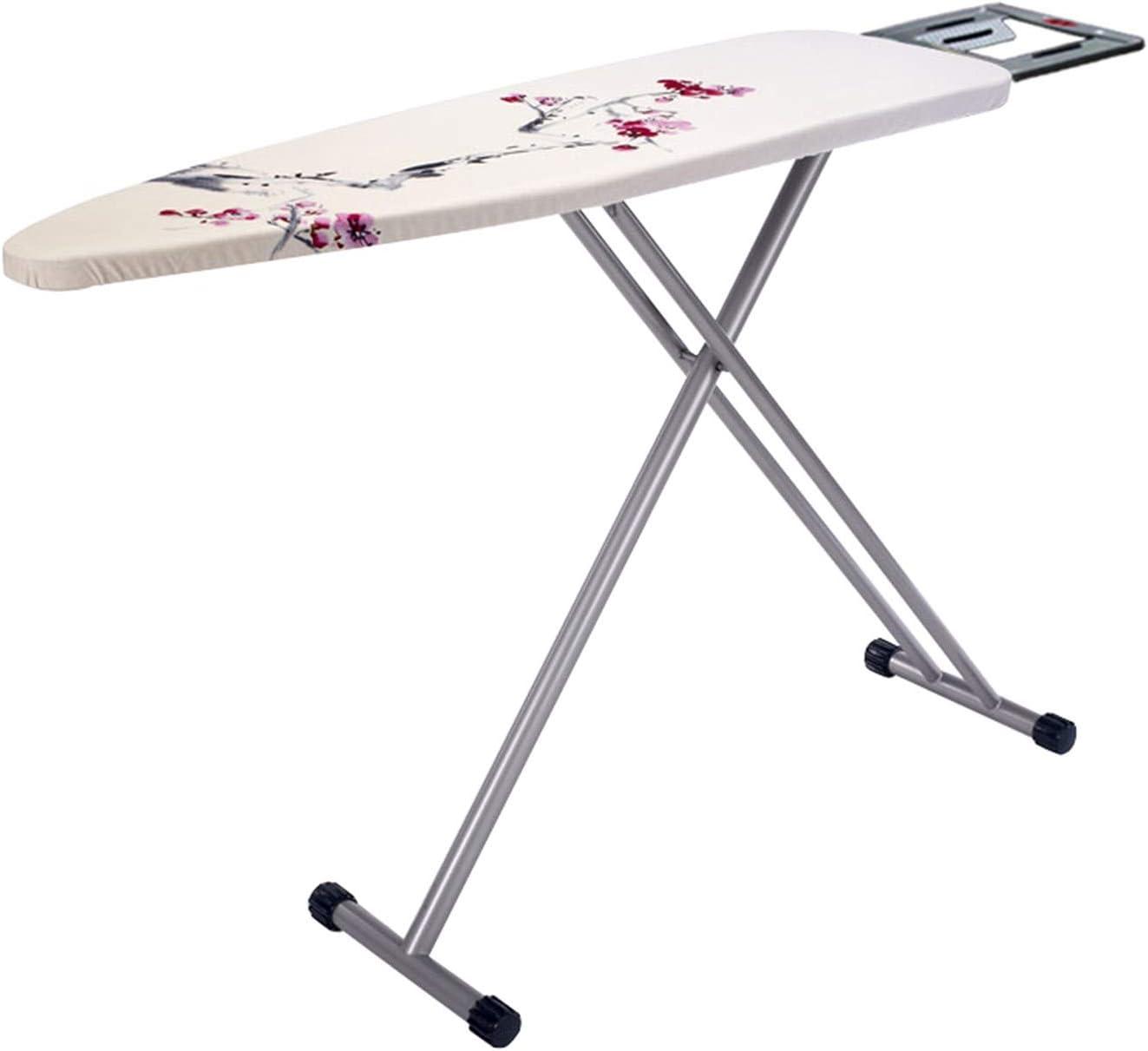 Estudio de ropa Tabla de metal de planchado, Cuarto de Lavado hotel tabla de planchar color cubierta de tela transpirable tabla de planchar T-pata de la mesa de planchado, 130.5 * 33 * 90cm Transpirab