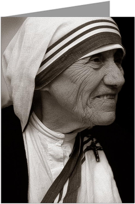 Alleinerzieherin Teresa; Nobelpreisträger, humanitären, Fürsprecher für die die die Armen Grußkarte B006HAJ7UQ | Spielzeugwelt, spielen Sie Ihre eigene Welt  d76aaa