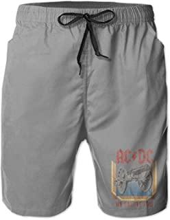Hengtaichang ACDC Mens Breathable Beach Board Shorts Swim Trunks Quick Dry