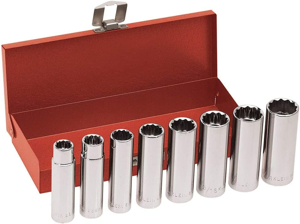 Selling Klein Tools Max 61% OFF 1 2-Inch Drive 8-Piece Deep Set Socket Wrench