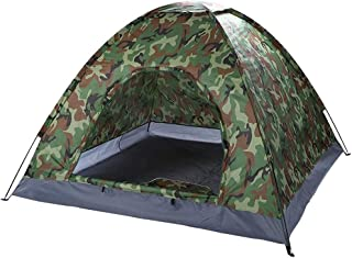Camping Tent for 3-4 Person Camouflage Multifunction Rainning Proof Tent Easy Setup Dome Tent for Backpacking Travel