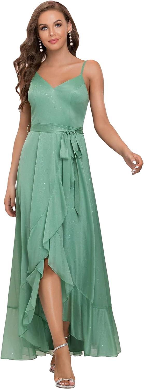 Ever-Pretty Women's Glitter Spaghetti Straps A-line Maxi Evening Dresses for Party 0169
