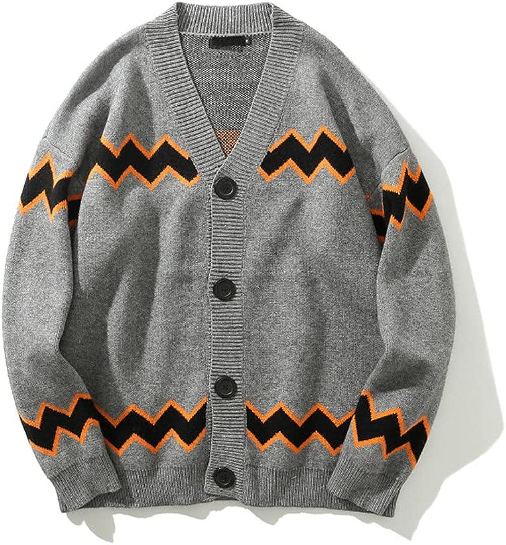 KCLDFJ Cardigan Sweaters Men Hip Hop Street Men's Sweater Knitwear Streetwear Oversized Sweaters for Men