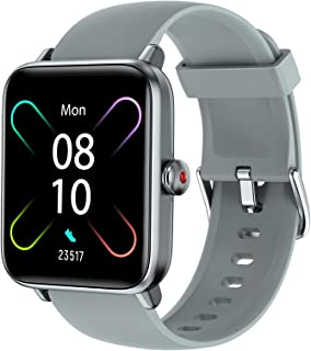 LETSCOM Smart Watch for Android Phones Compatible with iPhone, 1.55 Inch Touch Screen, Fitness Tracker with Heart Rate Mon...
