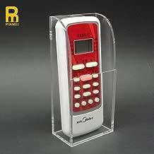PINMEI Acrylic Remote Control Holder Wall Mount Media Organizer Box TV Remote Control Holder Universal TV Remote Caddy Organizer