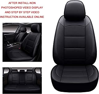 Oasis Auto 2012-2016 CR-V Custom Fit Leather Seat Cover Compatible with 2012-2013-2014-2015-2016 Honda CRV