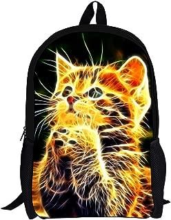 FOR U DESIGNS Big Boys' Vintage Animal Horse Backpack Medium Gold Cat