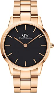 Daniel Wellington Men's Iconic Link Watch, 40mm, Rose Gold/Black