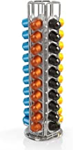 BluePeak Nespresso Coffee Capsule Rack Holder Carousel - Holds 50 Capsules OriginalLine. Elegant and Modern Chrome Finish....