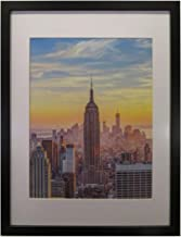Frame Amo 18x24 Black Wood Picture or Poster Frame, White Mat for 14x18 Image, 1 inch Border (1)