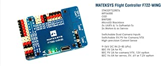 Matek System F722-WING F7 STM32F722RET6 Flight Controller w/Built-in OSD Dual Camera Inputs 5V/9V BEC MicroSD Blackbox Current Sense for RC Plane Fixed Wing FPV Aircraft Glider Sailplane Airplane