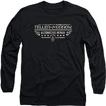 Sons of Anarchy Teller Morrow Mens Long Sleeve Shirt Black Lg