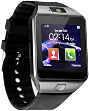 Sazooy Smart Watch DZ09 Bluetooth Smartwatch Touchscreen Sport Wrist Watch Fitness Tracker Pedometer with SIM SD Card Slot Camera Compatible Samsung Android iOS iPhone for Women Men Kids (Black)