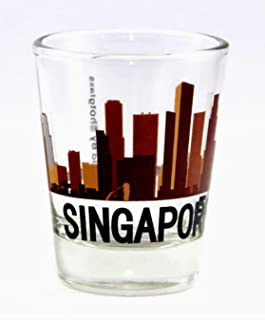 Singapore Sunset Skyline New Shot Glass