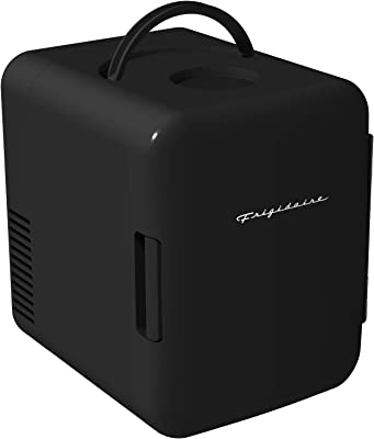 Frigidaire EFMIS129-BLACK 6 Can Retro Mini Portable Personal Fridge/Cooler for Home, Office or Dorm, Black