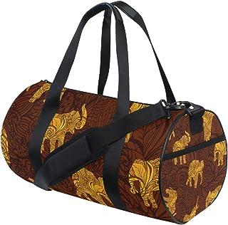 Ahomy Schultertasche, Motiv: Afrika, Tiere, Goldener Elefant, leicht, Segeltuch, Reisetasche