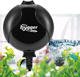 Hygger Quiet Mini Air Pump for Aquarium 1.5 Watt Oxygen Fish Air Pump for 1-15 Gallon Fish Tank with Accessories
