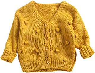 Autumn Winter Baby Sweater,Fineser Stylish Infant Kids Girl Knit Ball in Hand Down Cardigan Sweater Jacket Tops Coat 3 Colors