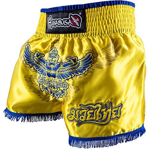 Hayabusa Garuda Muay Thai Shorts - Yellow, Large
