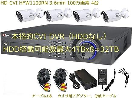 CVI HCVR7816S 16chとHFW1100RN 3.6mm 100万画素 バレット IRカメラ 2台のセット 優れた多チャンネルの同期再生と動作検知の同期再生 使い易い再生を好まれる方にお勧め 遠隔ソフト(スマホとPCに対応) 日本語対応 監視カメラ 駐車場の防犯カメラ HDDなし 安心の1年保証