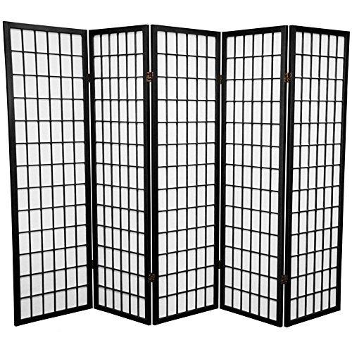 Panel Shoji Screen Room Divider 3 - 10 Panel (5 panel, Black, White, Cherry , Natural)