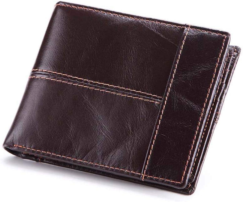 Yter Mens-Kartenmappenhalter Brieftasche aus Leder, Kurze Brieftasche für Herren, Multi-Functiona-Brieftasche, Mehrere Brieftasche zum Ändern der Karte. Brieftasche für Männer B07NQDHLTY