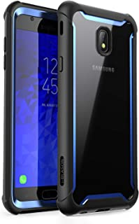 Samsung Galaxy J7 2018 Case, i-Blason [Ares] Full-Body Rugged Clear Bumper Case with Built-in Screen Protector for Galaxy J7 (SM-J737 2018 Release) Not fit (J7 Pro 2017 SM-J730)(Blue) (Renewed)