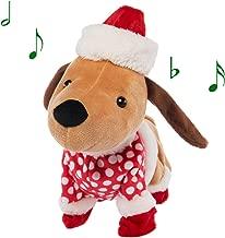 Simply Genius Funny Animated Christmas Plush, Dog Stuffed Animals, Stuffed Animals Christmas Decorations That Sing Christmas Music and Dance