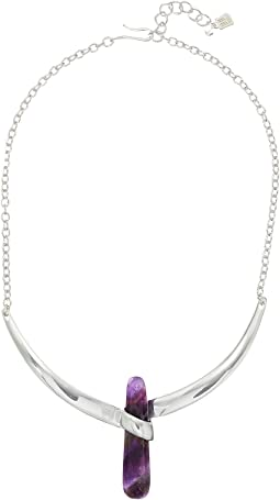 Robert Lee Morris - Amethyst and Silver Collar Necklace